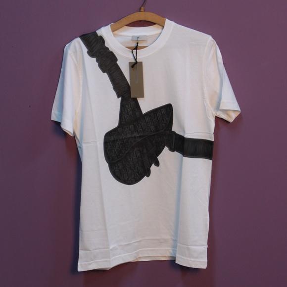 Other - Dior Cross Bag Print White T-Shirt